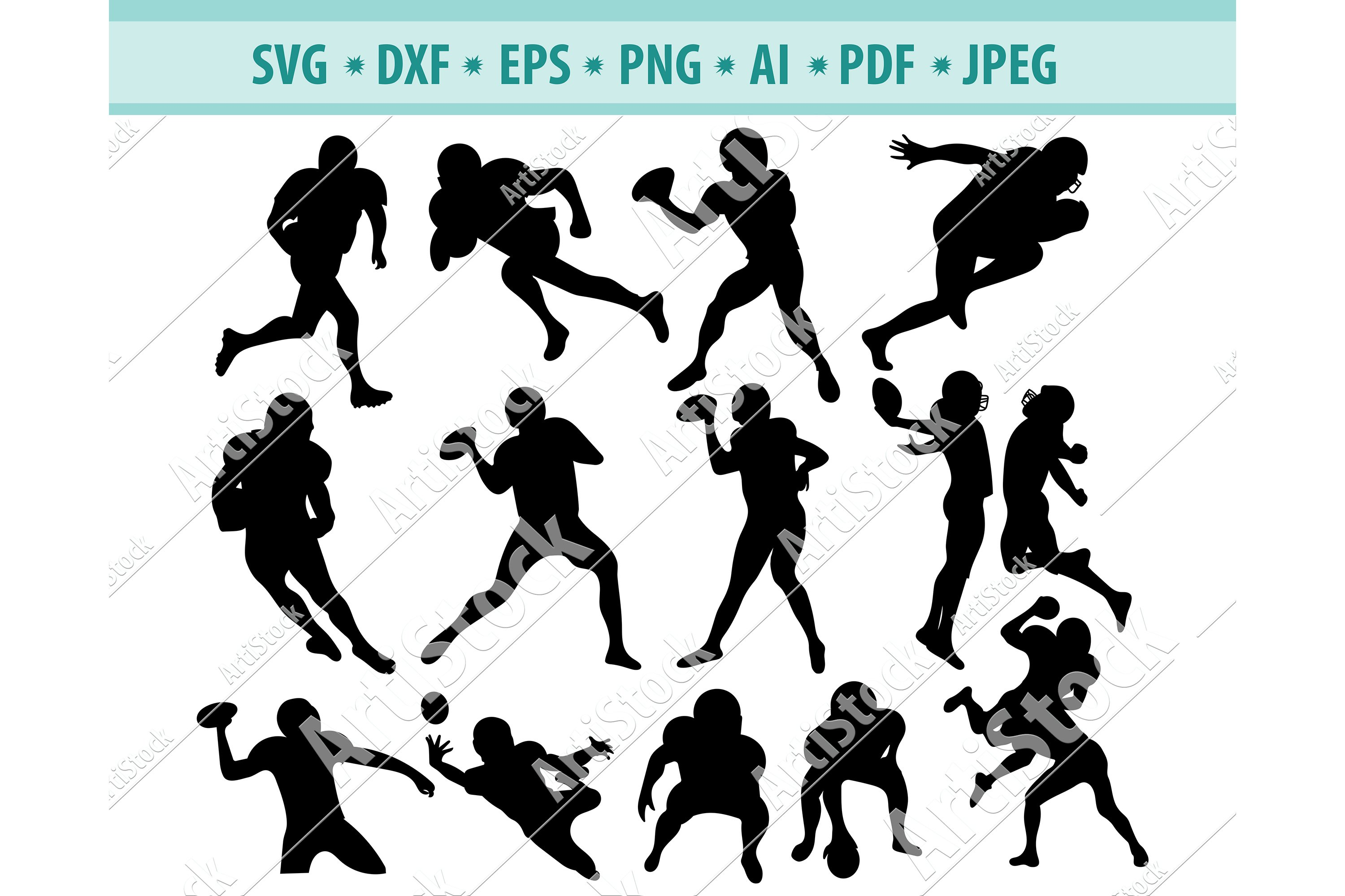 Football Svg Football Players Png Football Silhouette Eps 413480 Svgs Design Bundles