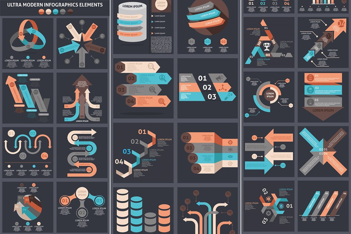 1000 Ultra Big Bundle Infographics Elements example image 14
