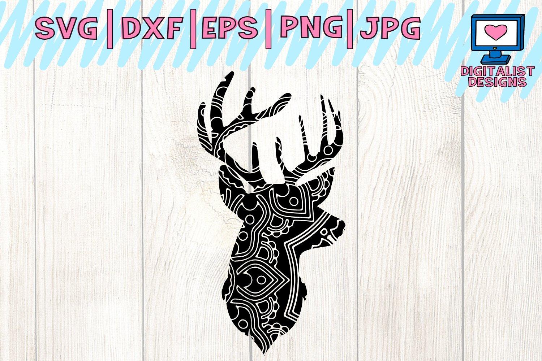 Mandala Svg Deer Head Svg Deer Svg Antlers Svg Deer Head Clipart Mandala Deer Svg Animal Svg Cricut Cut Files Silhouette 103266 Cut Files Design Bundles