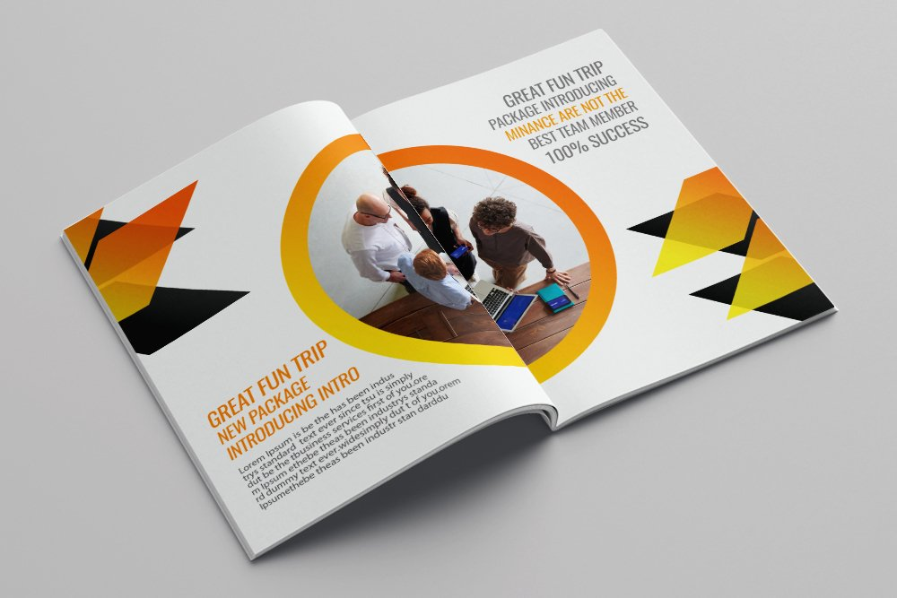 Business Portfolio Bifold Brochure 16 Pages example image 9
