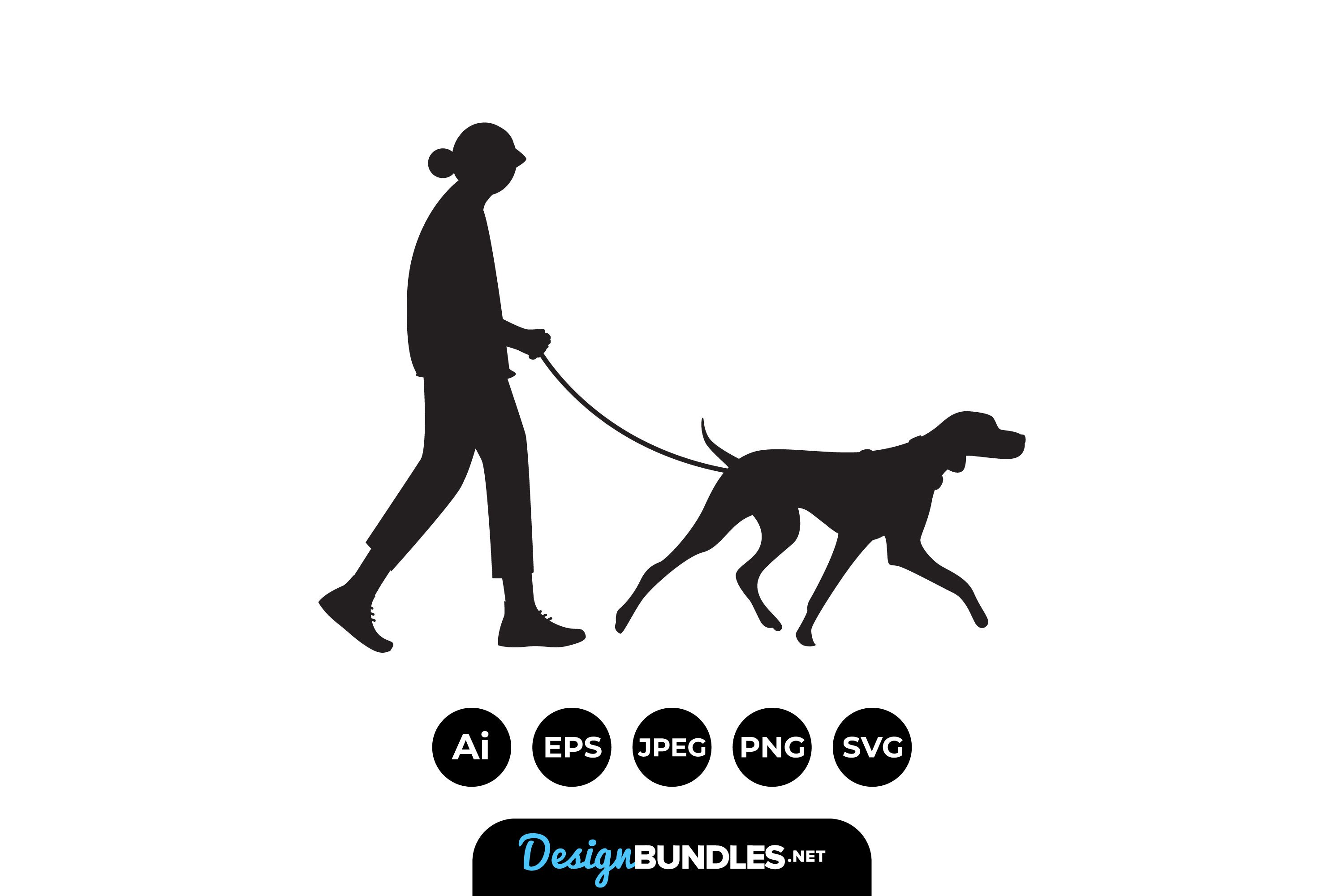 Walking The Dog Silhouttes example image 1