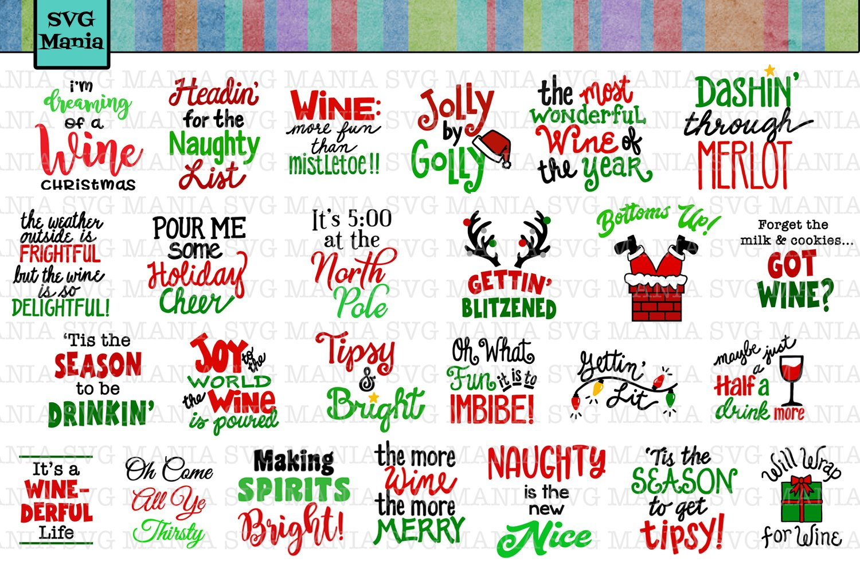 Download Funny Christmas Wine Glass Svg File Bundle Holiday Wine Svg 301443 Svgs Design Bundles