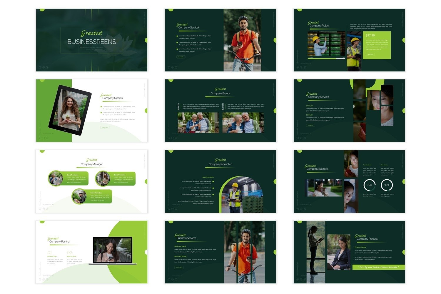 Greatest - Powerpoint Template example image 2