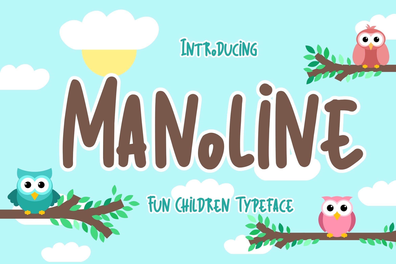 Manoline Fun Children Typeface example image 1