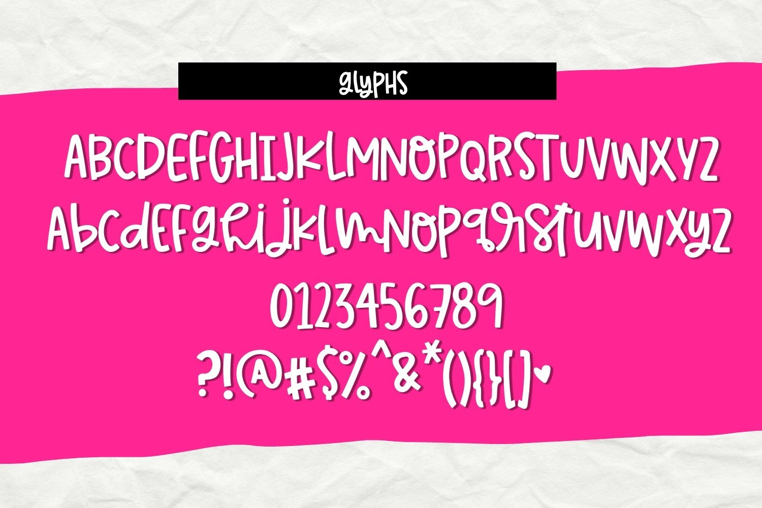 Happy Heart- Smooth Handwritten Font for Crafters example image 5