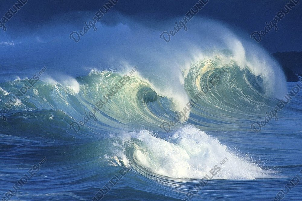 Stock Photo - View Of Waves In Sea Against Sky example image 2