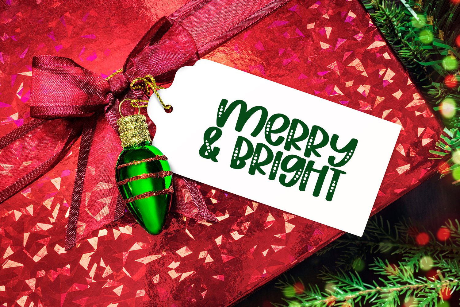 Christmas Party - A Hand-Lettered Font Duo example image 3