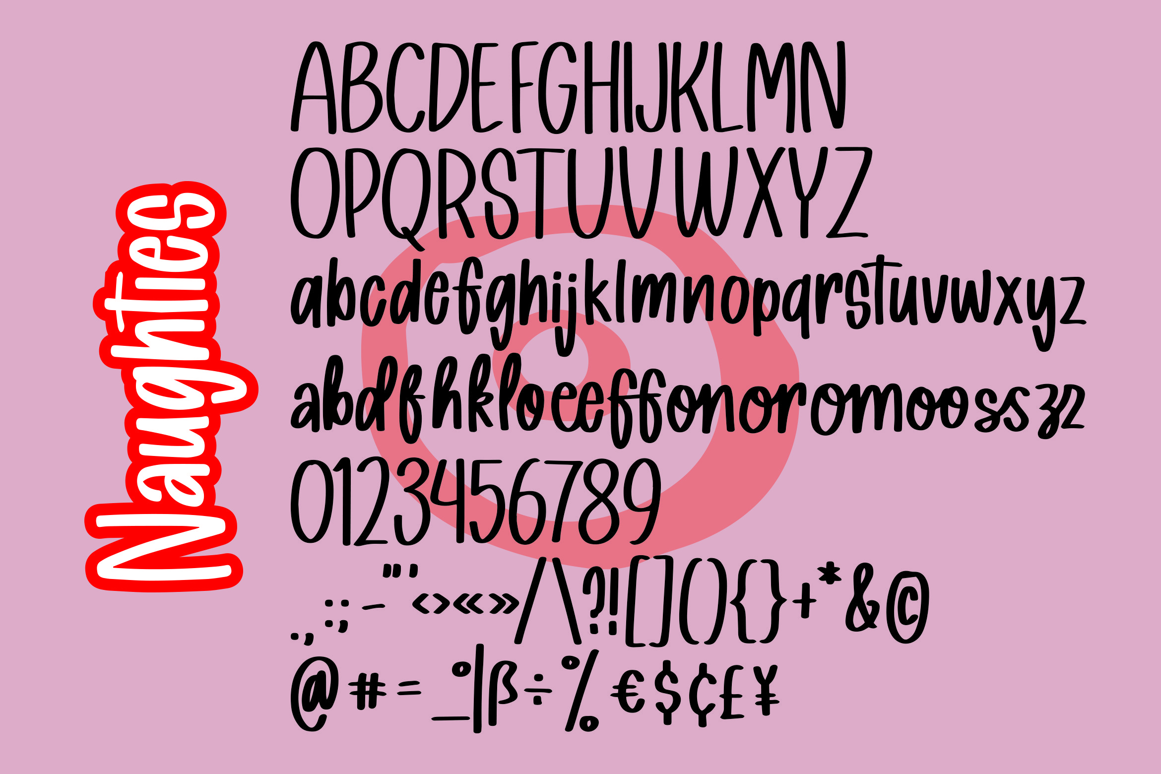 Naughties - Handlettered Font example image 4