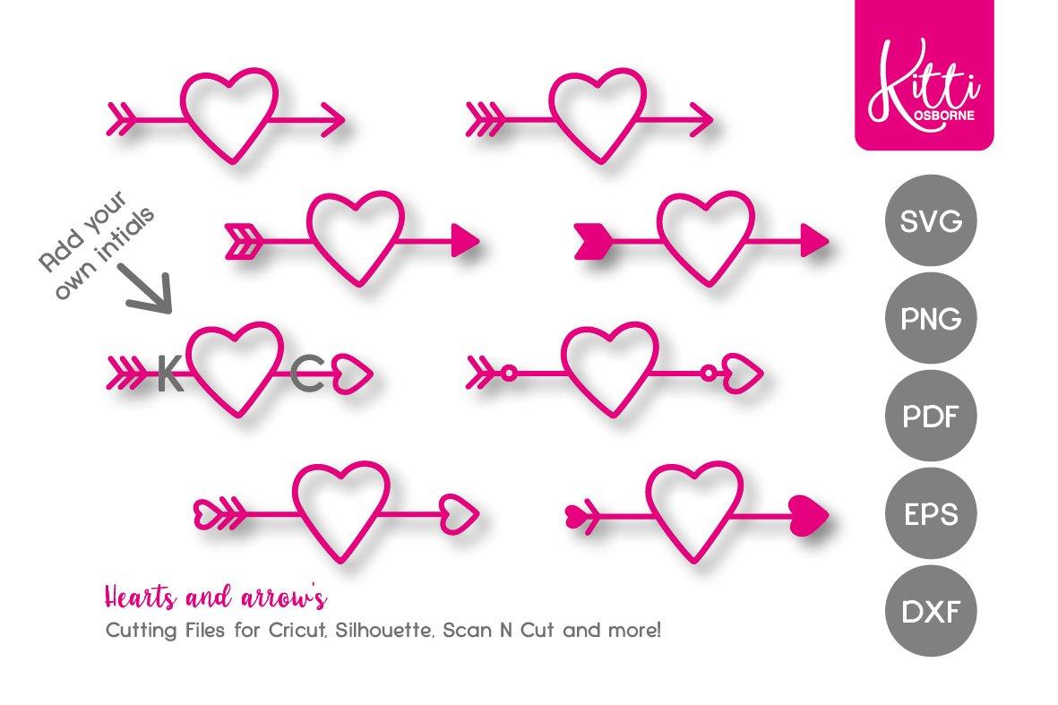Hearts Arrows Svg 463494 Decorations Design Bundles