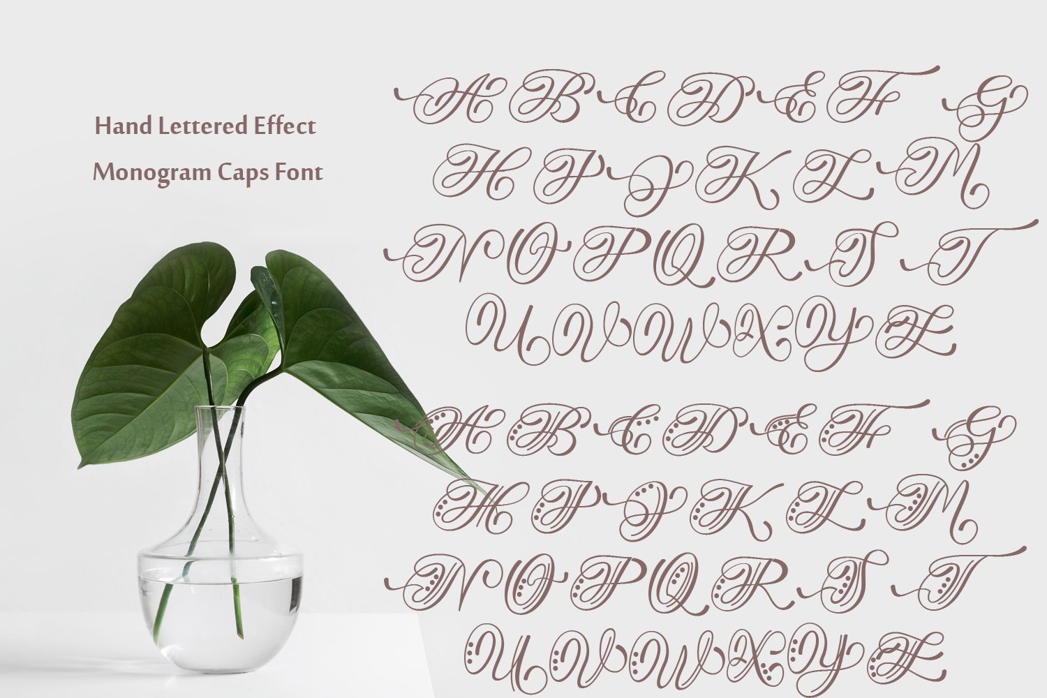 Hand Lettered Effect Monogram example image 7