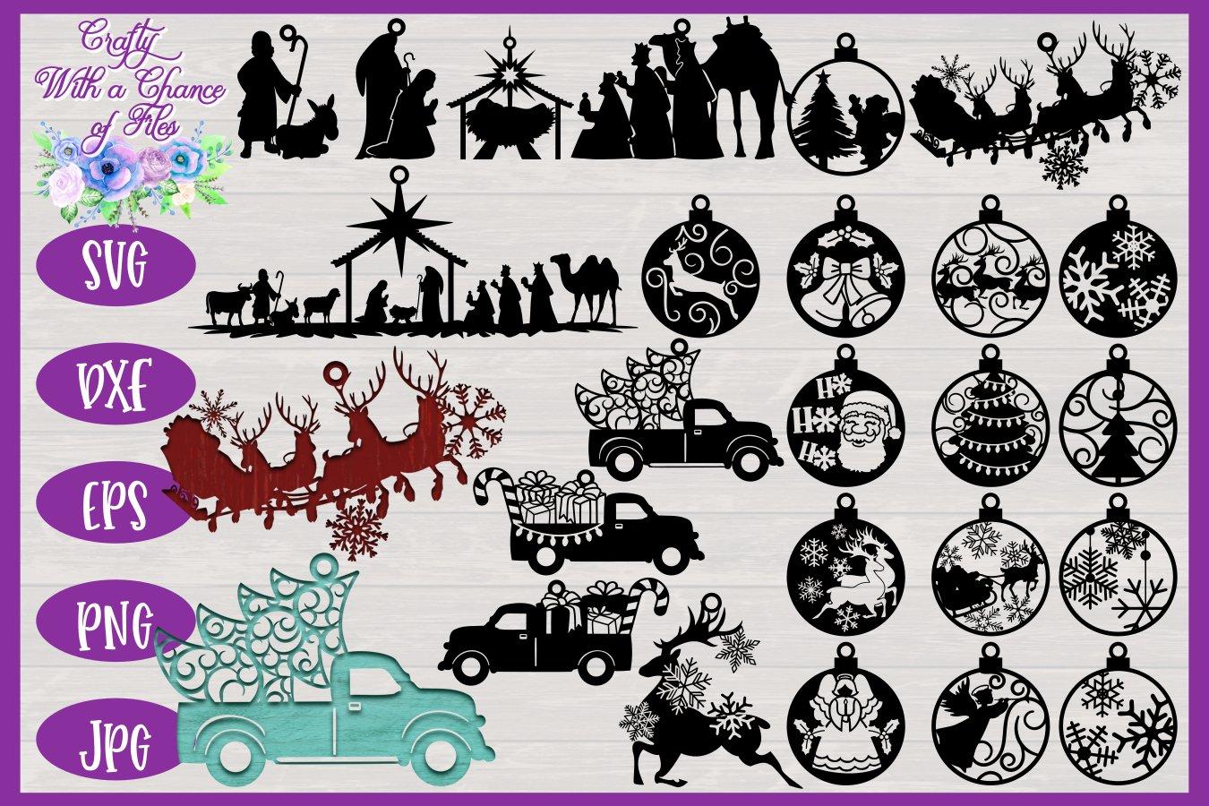 Christmas Laser Cut Svg Ornament Svg Bauble Svg 162754 Laser Engraving Design Bundles