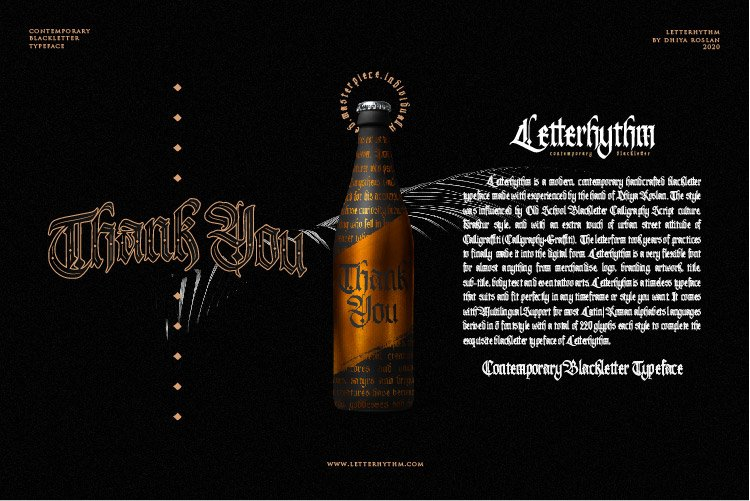 Letterhythm Contemporary Blackletter Typeface example image 8
