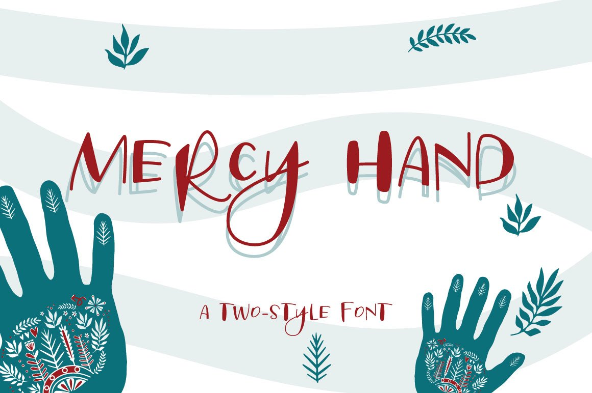 Mercy Hand - a two-style handwritten font example image 1