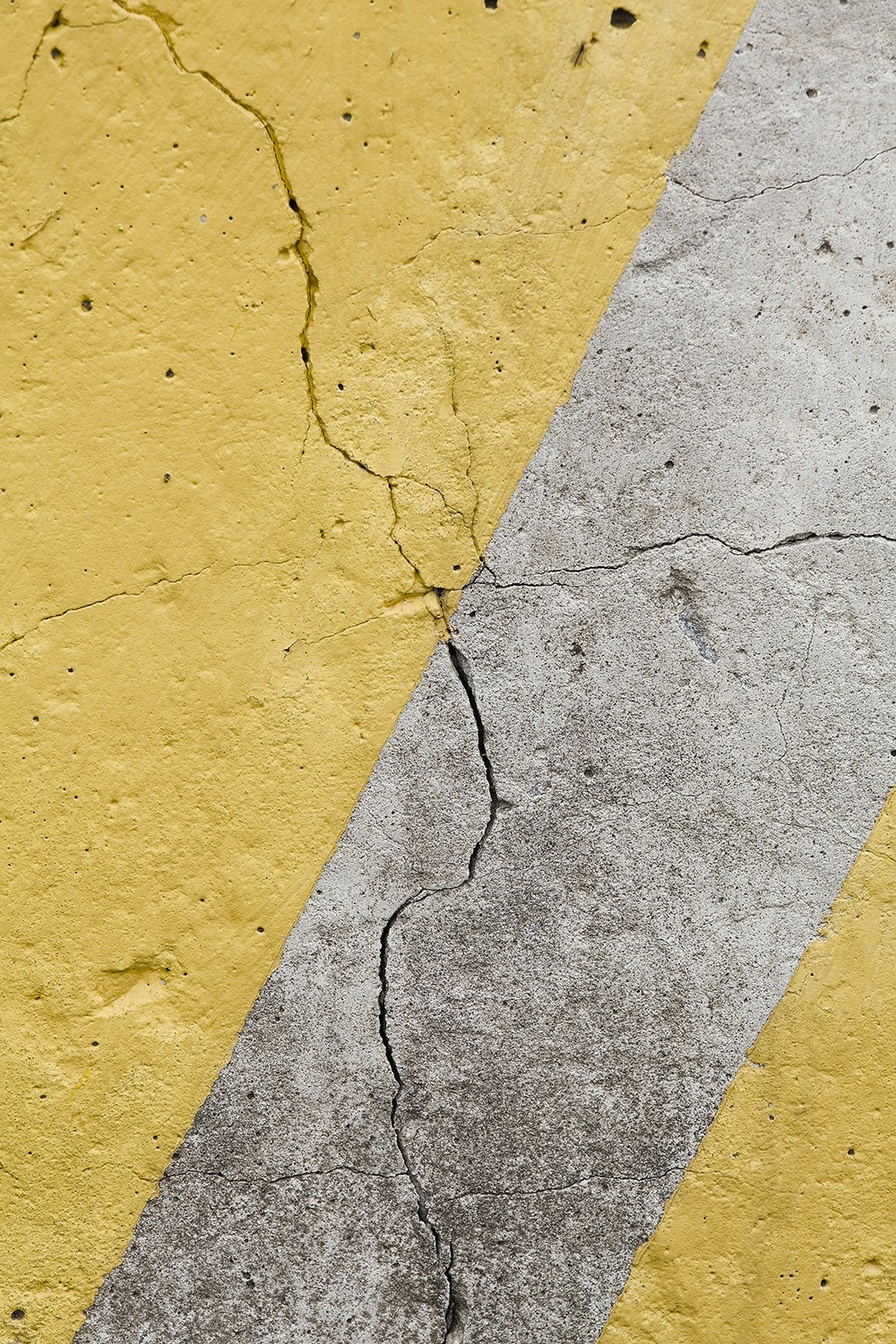 Grunge grey wall with yellow stripes. example image 2