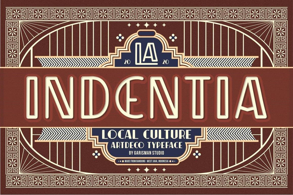 Indentia - Art Deco Typeface example image 1