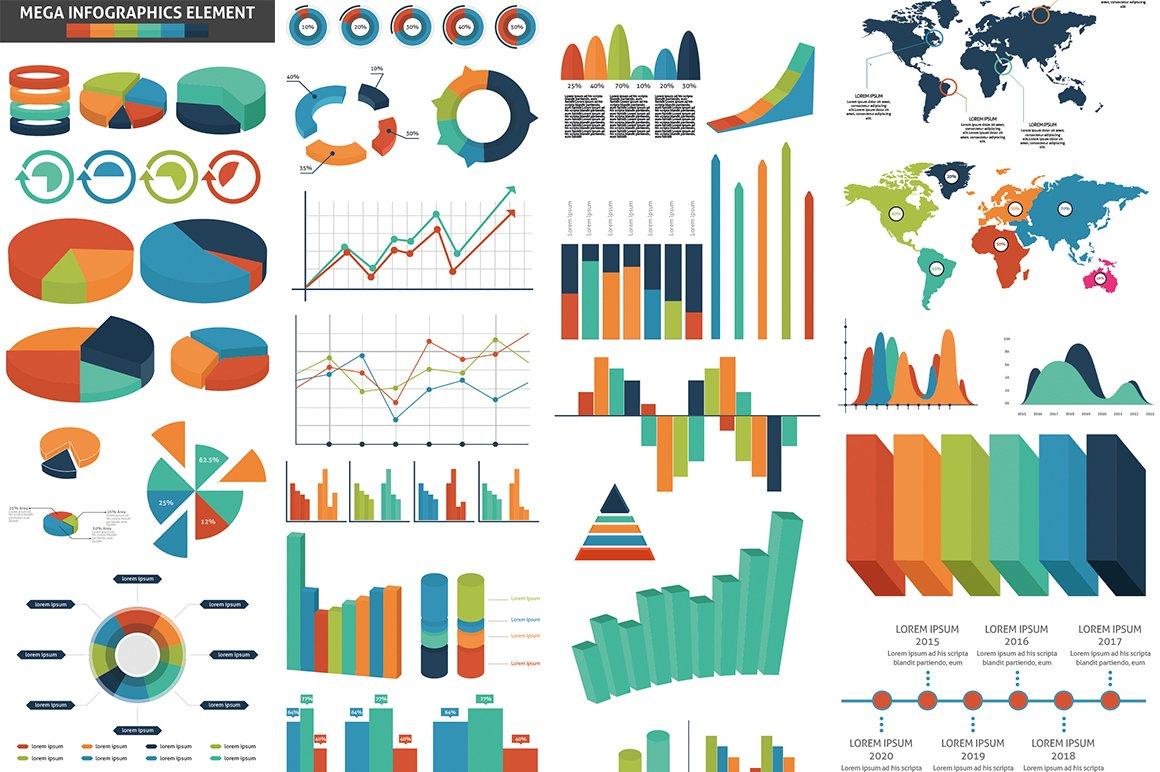 1000 Ultra Big Bundle Infographics Elements example image 4