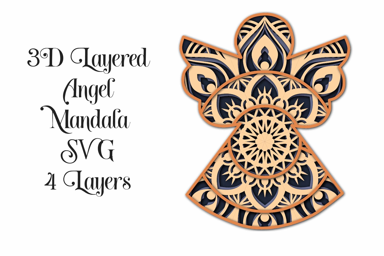 Download Christmas Mandala SVG Bundle - 3D Layered Mandalas (754368 ...