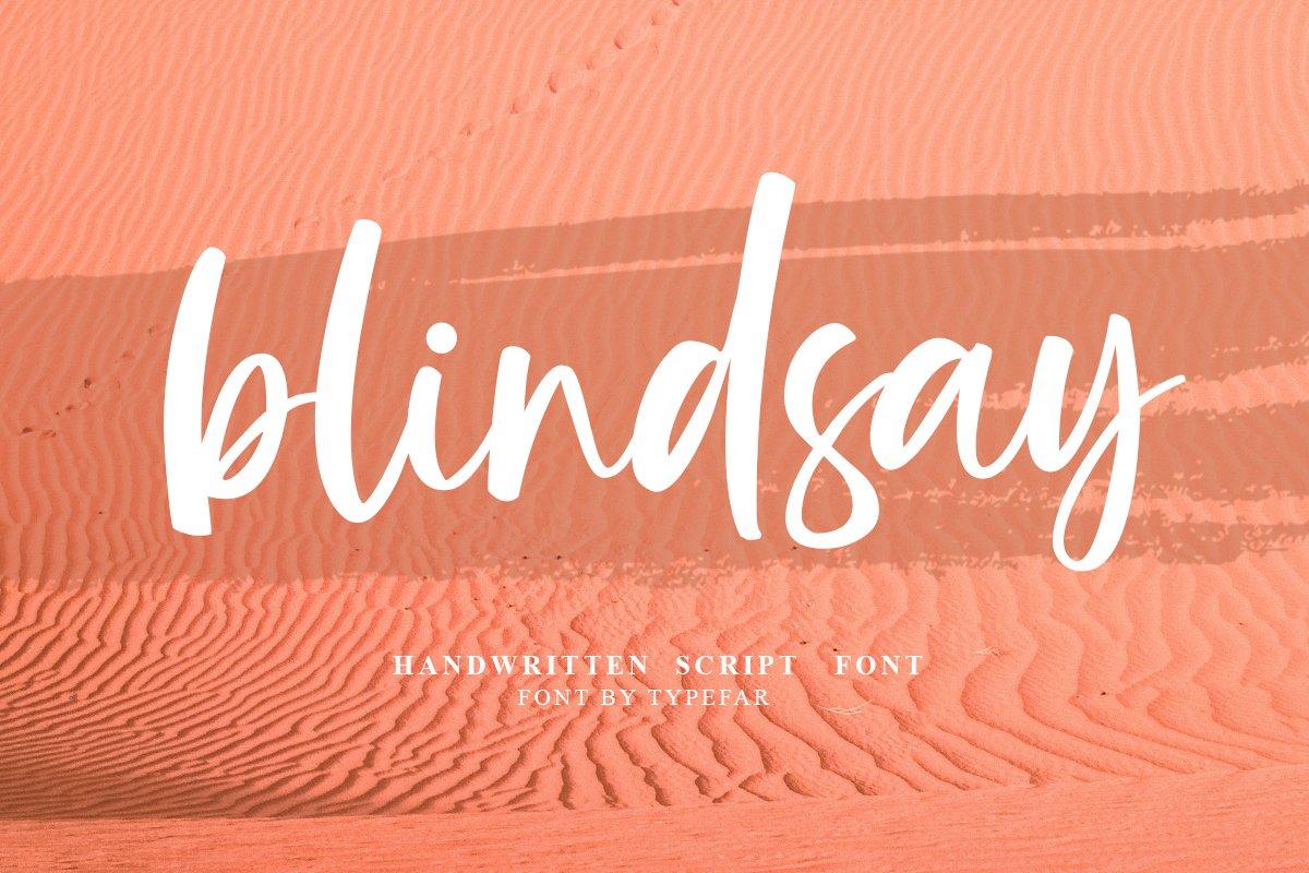 Blindsay - Handwritten Script Font example image 1