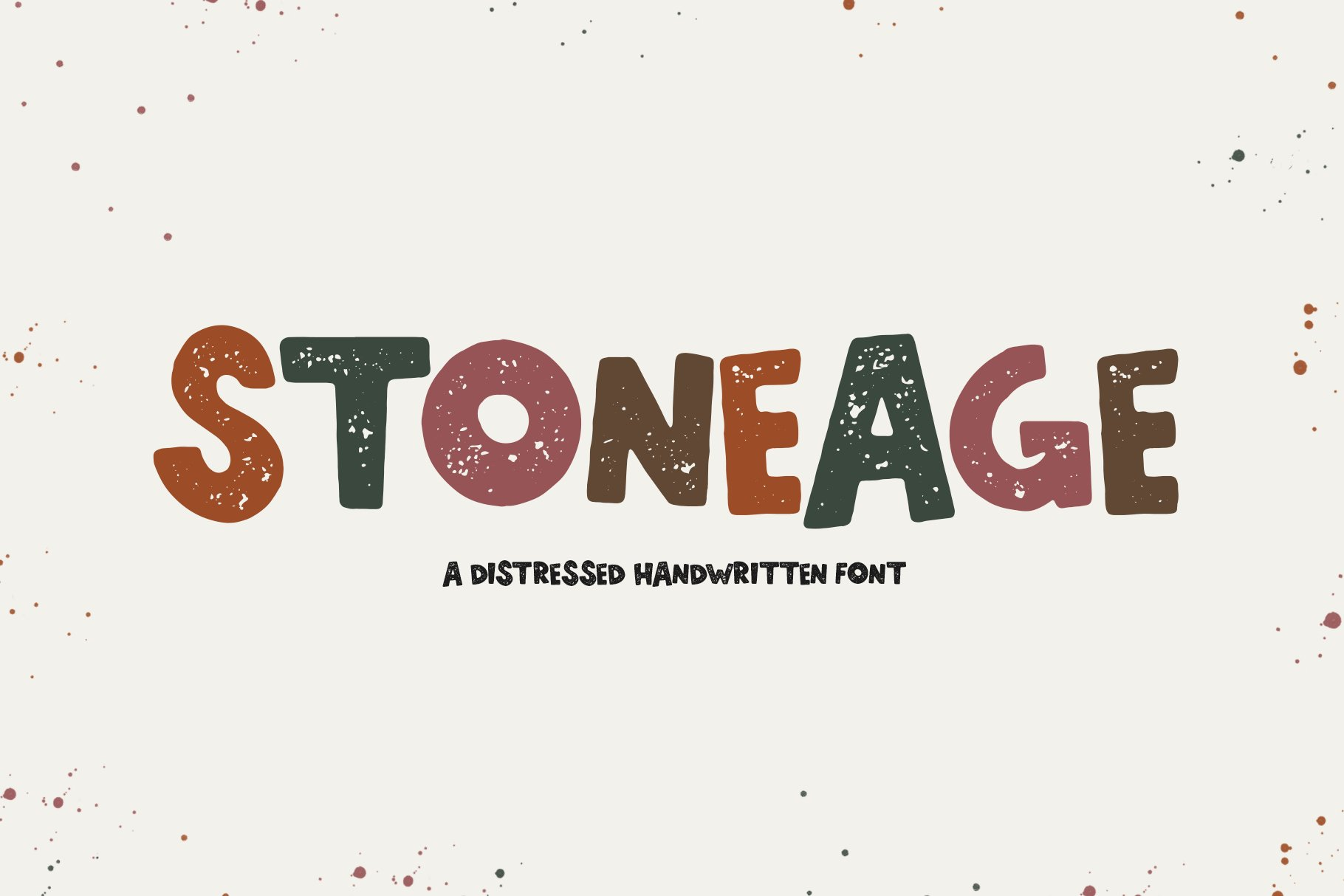 StoneAge - A Distressed Handwritten Font example image 1