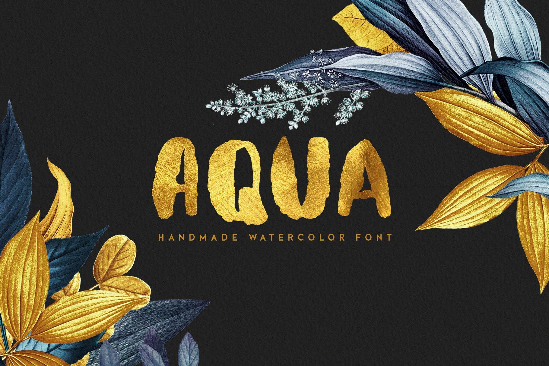 Aquatype. Display Watercolor font. example image 1
