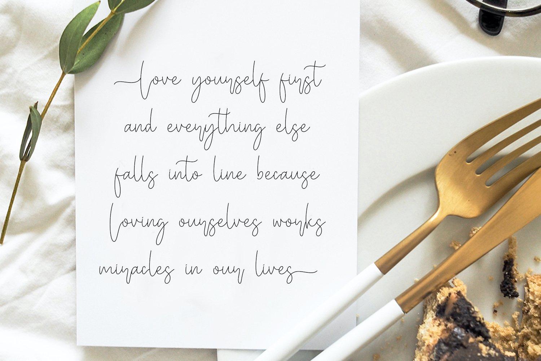 Miya Wayne - Modern Lovely Script Font example image 8