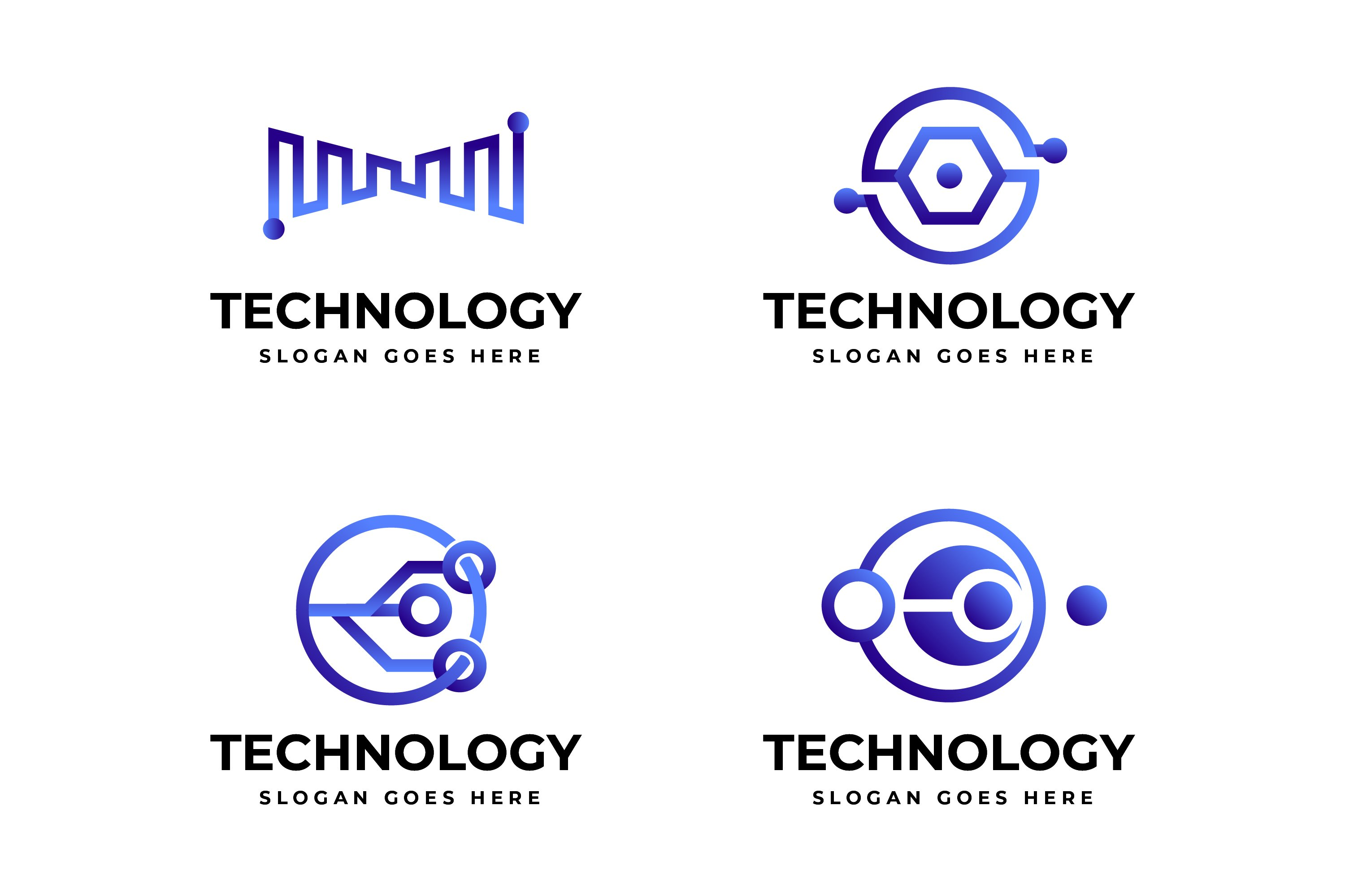 Gradient Technology Logo Template Collection example image 1