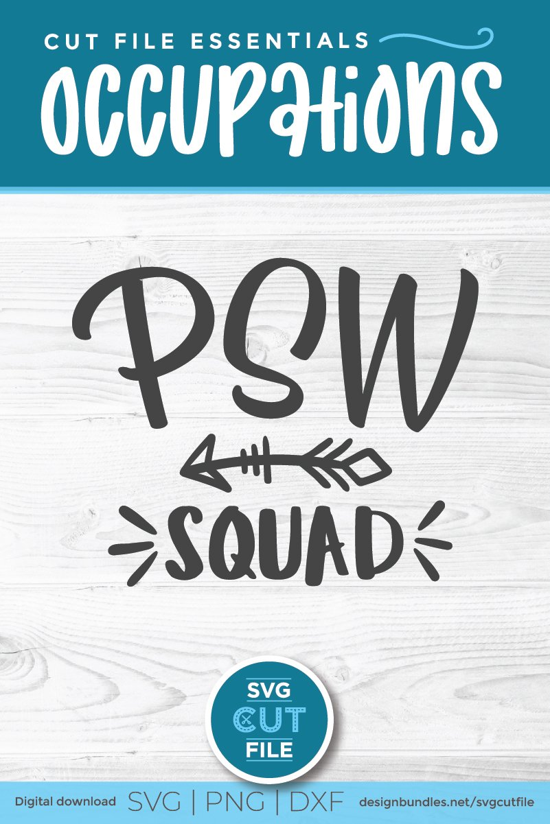 PSW squad with arrow svg-a Personal support worker svg file example image 5
