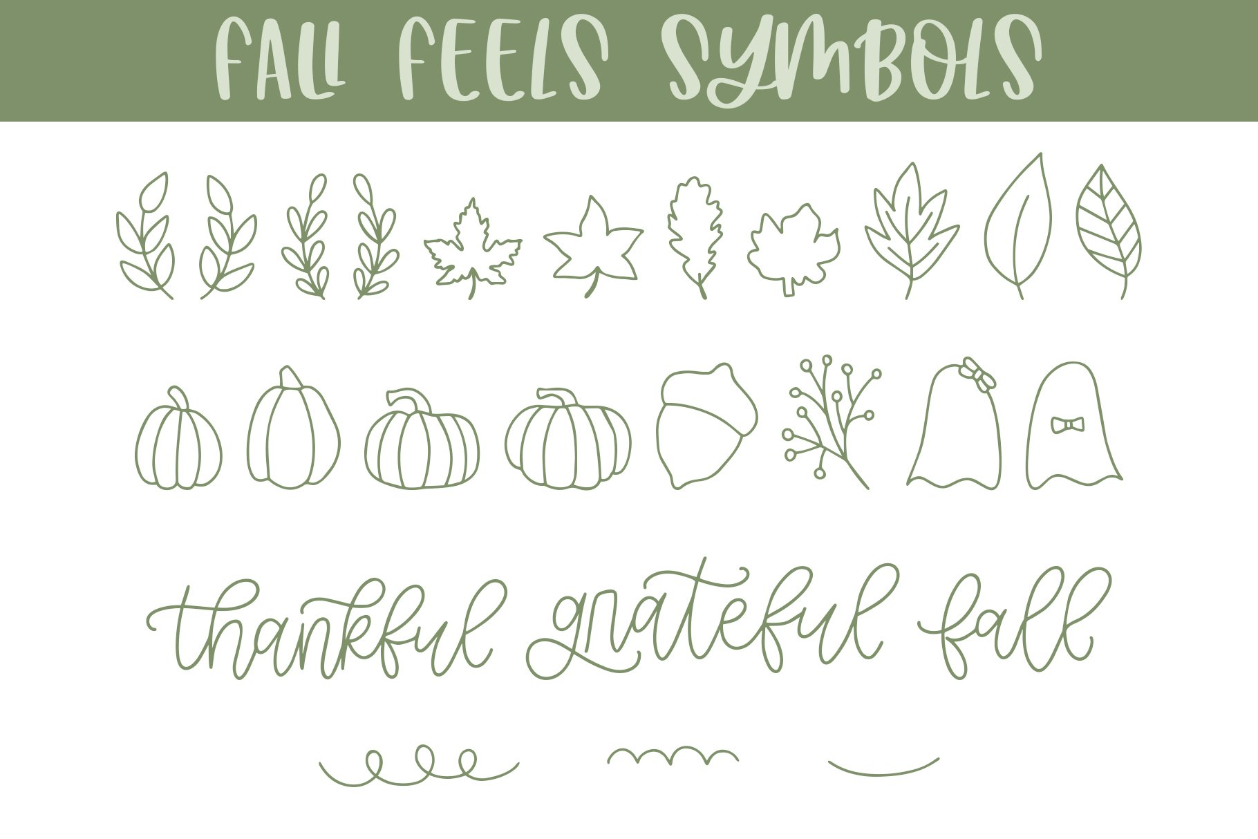 Fall Feels, Fall Doodle Font example image 3