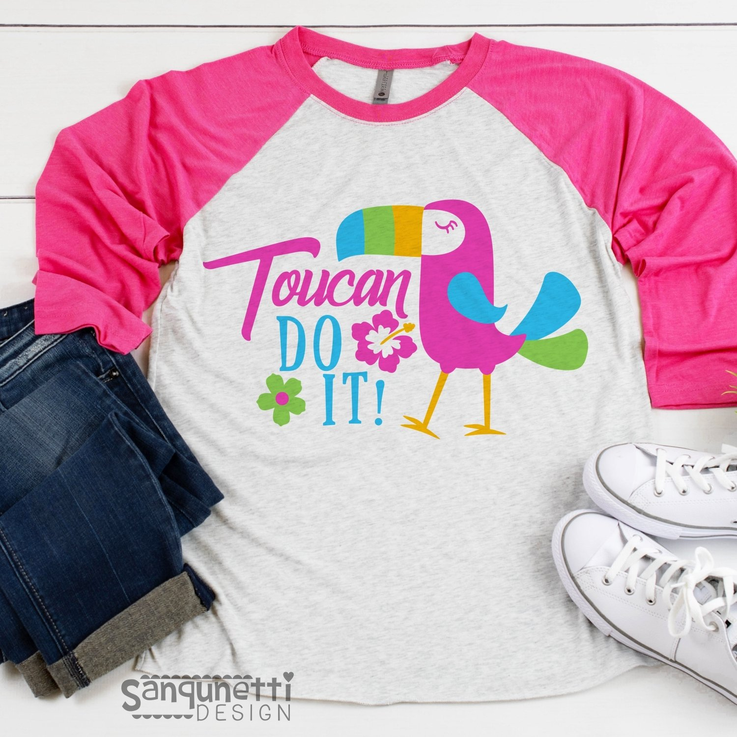 Toucan do it parrot SVG file, summer tropical cutting file example image 2