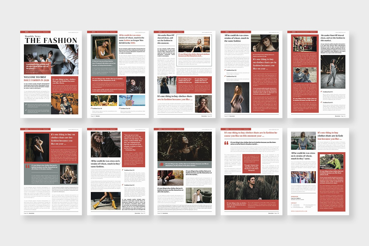 Fashion News Newsletter Template example image 4