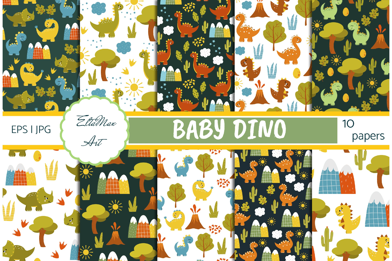 Dino Pattern Dinosaur Digital Paper Baby Boy Pattern COMMERCIAL USE Dinosaur Pattern Sky Paper Baby Digital Paper Scrapbook Paper