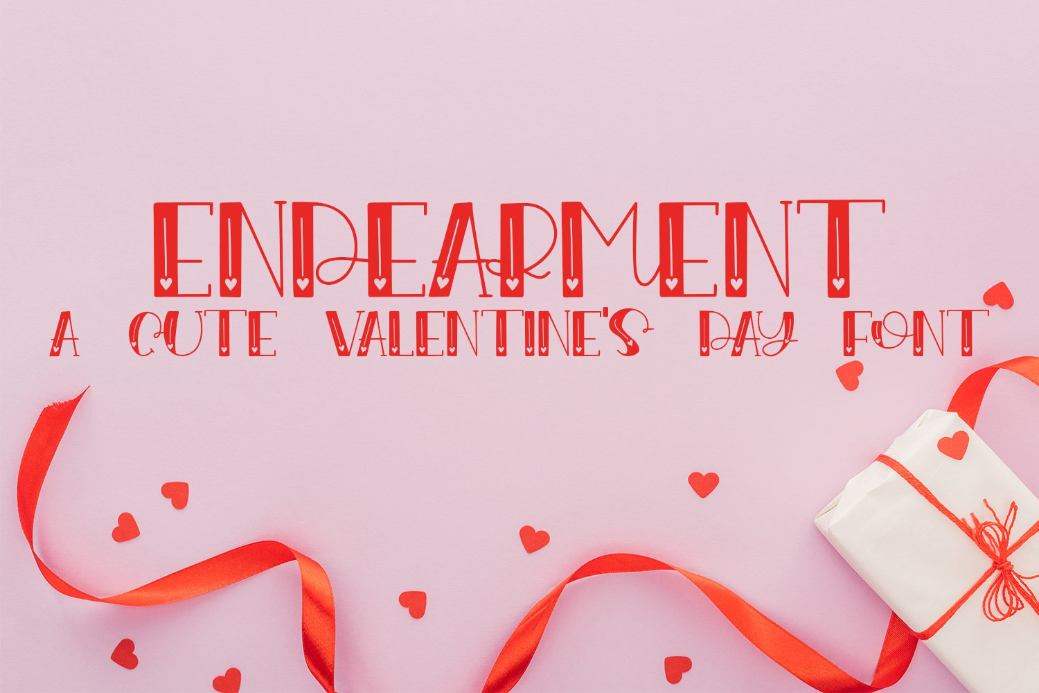 Endearment - A Valentine's Day Hand-Lettered Font example image 1