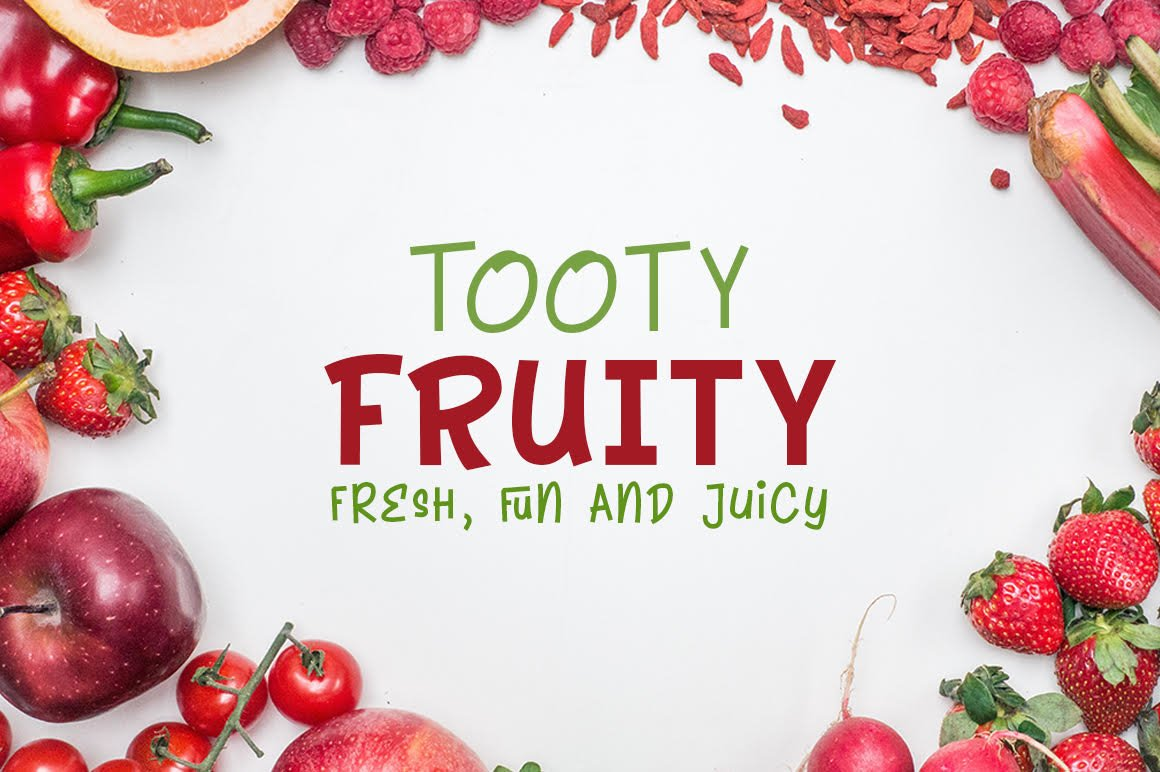 Tooty Fruity - Font Duo example image 1