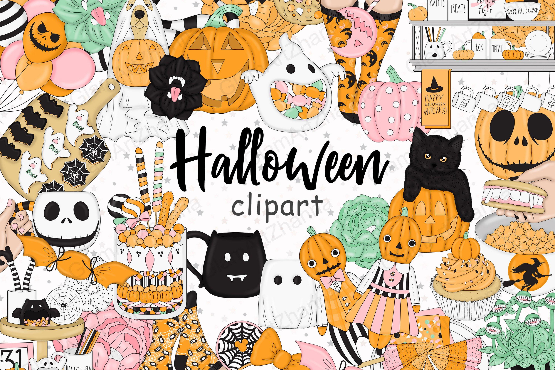 Halloween Clipart Fall Clipart Pumpkin Clipart Png Files 770903 Illustrations Design Bundles