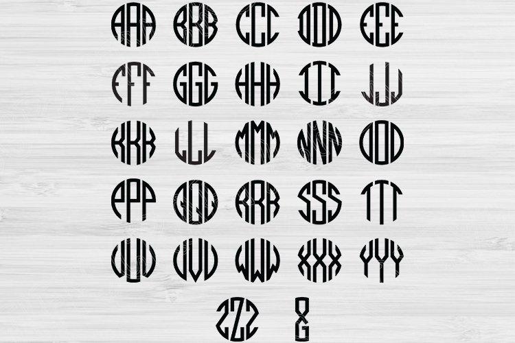 Circle Block Monogram Font Svg Round Alphabet Letters Cricut 479178 Cut Files Design Bundles