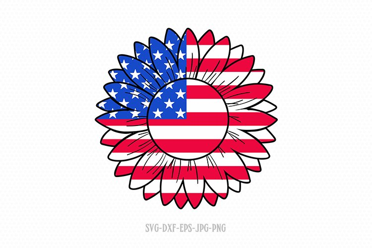 Download Patriotic Sunflower Svg Sunflower Svg 4th Of July 627905 Cut Files Design Bundles