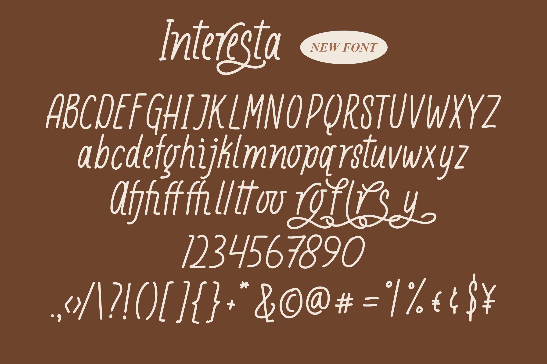 Interesta - Display Monoline Fonts example image 6