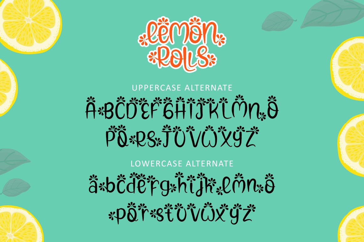Lemon Rolls - A Cute and Quirky Font example image 7
