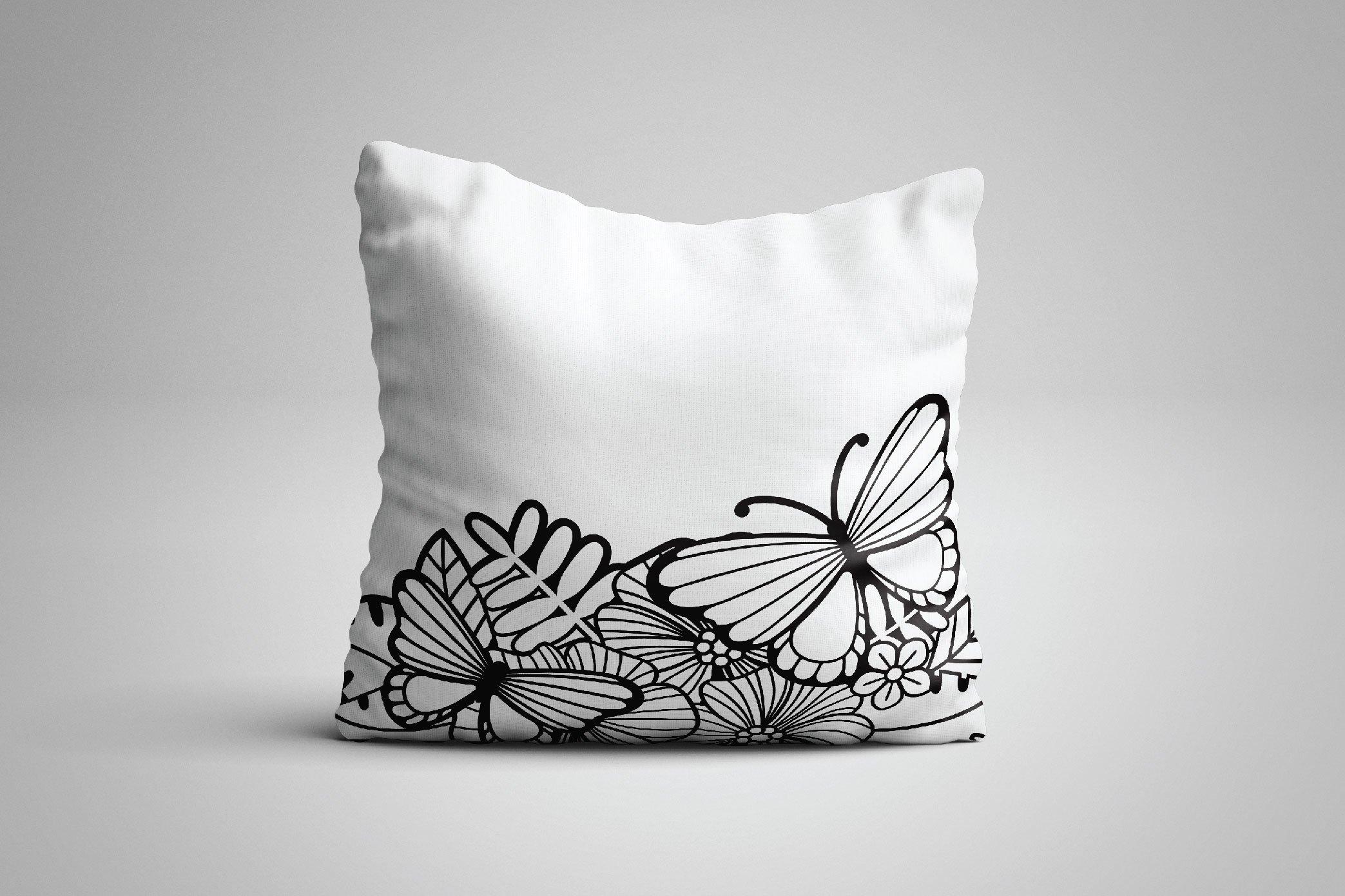 Split Monogram SVG | Floral SVG | Butterfly SVG | Summer SVG example image 2
