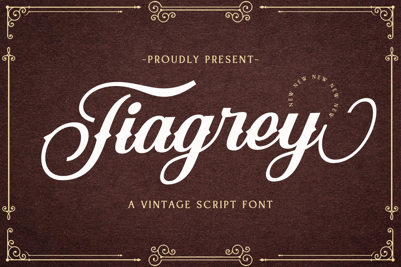 Web Font Tiagrey example image 1