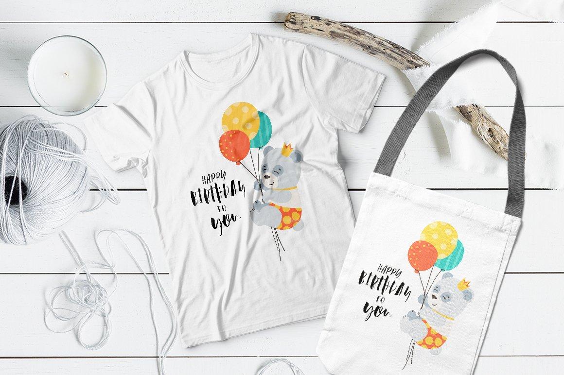 Happy birthday / SVG illustration example image 2