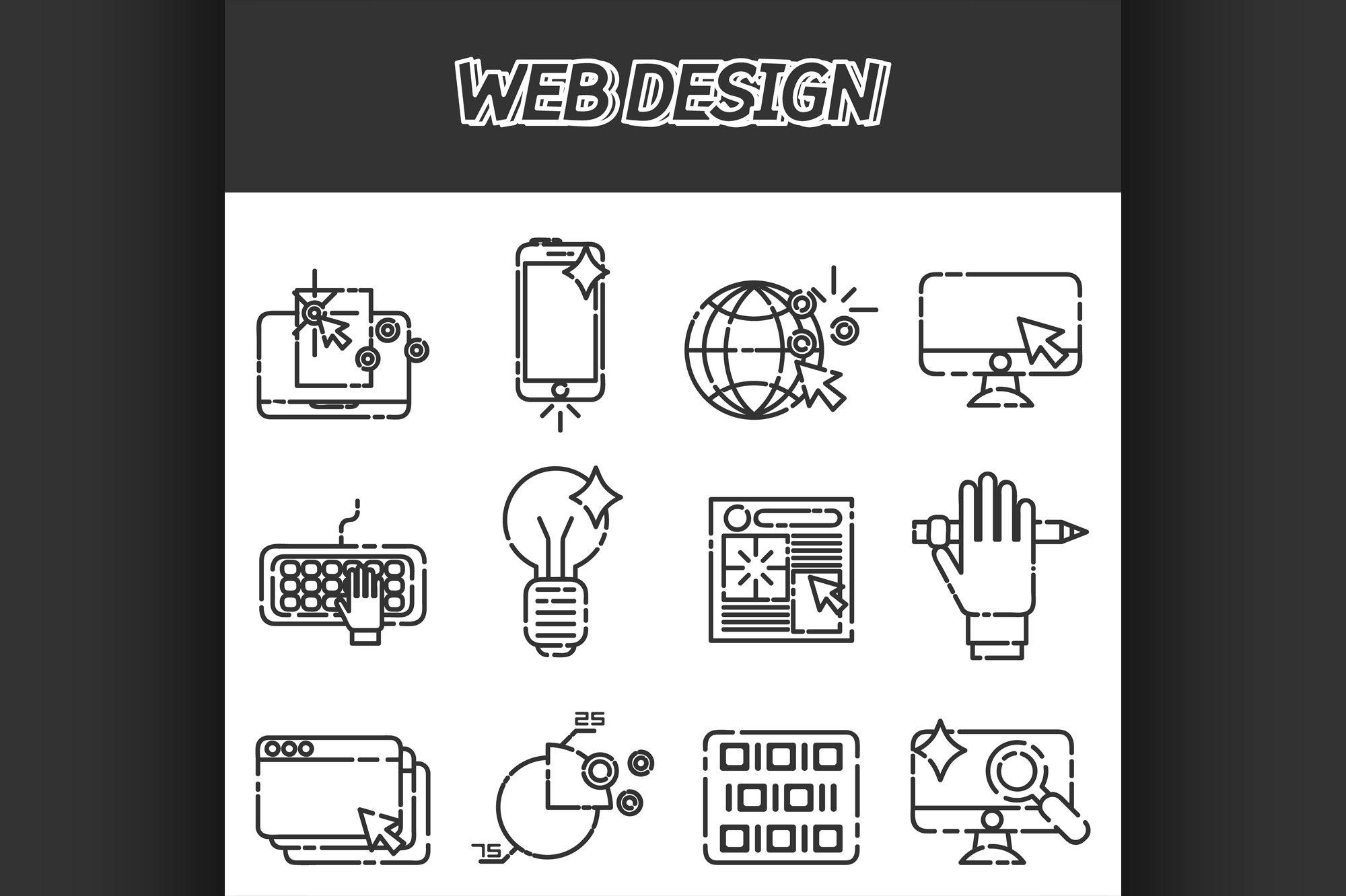Web design icons set example image 1