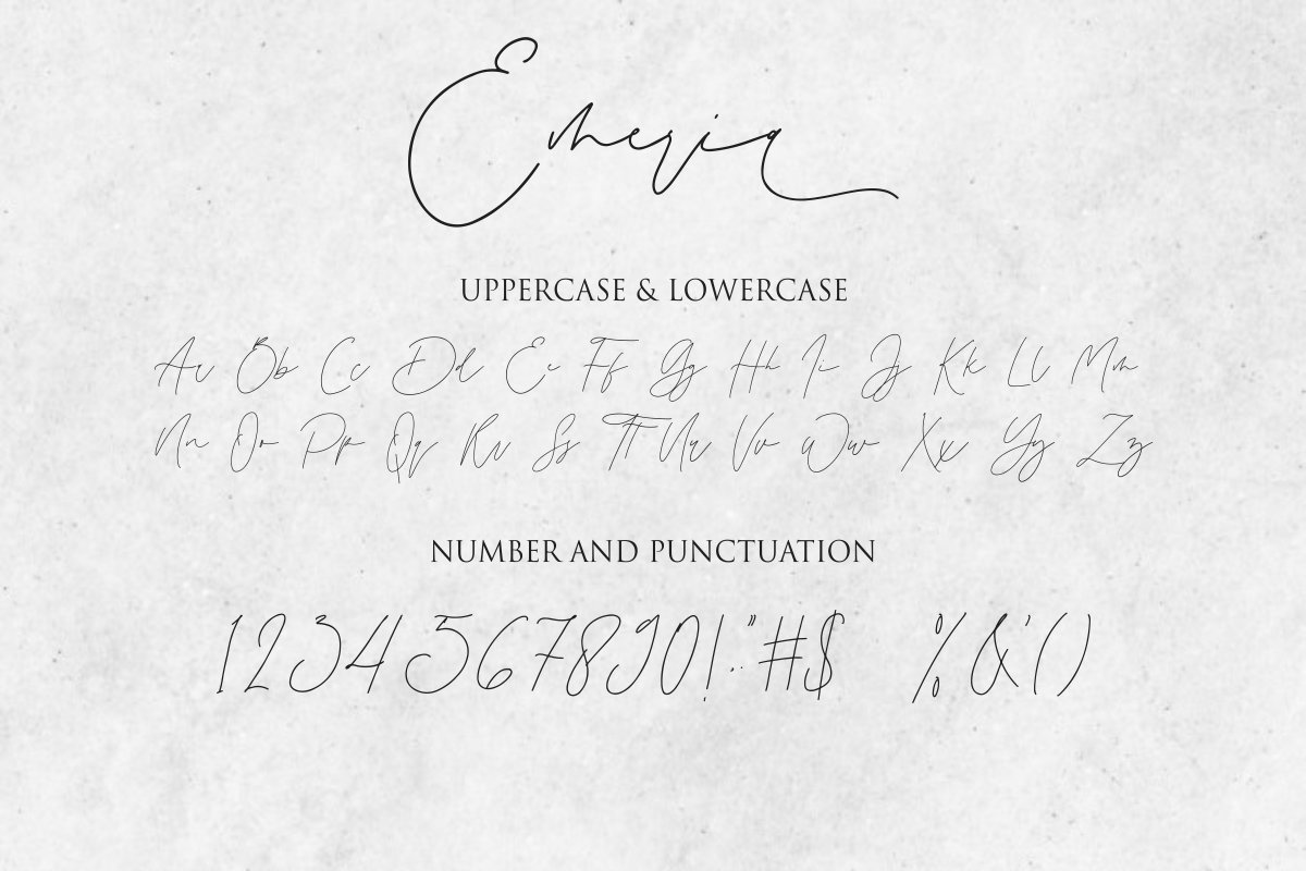 Emeria - Luxury Calligraphy example image 11