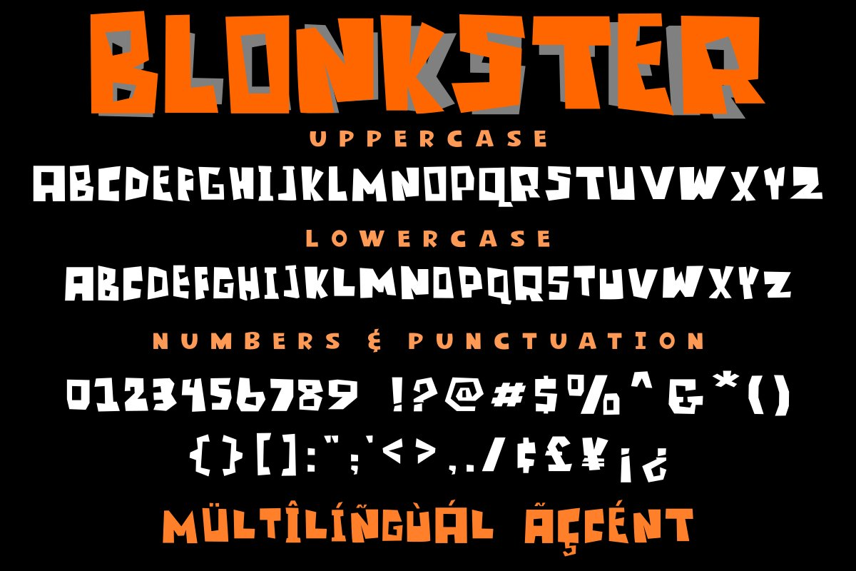 Blonkster Display Font example image 6