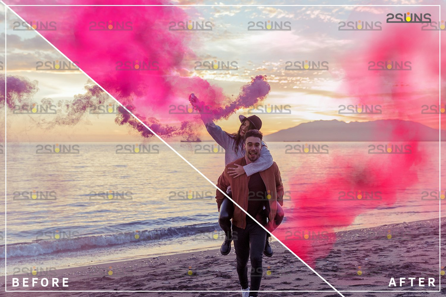 Gender reveal smoke overlay, Colorful Smoke bomb example image 2