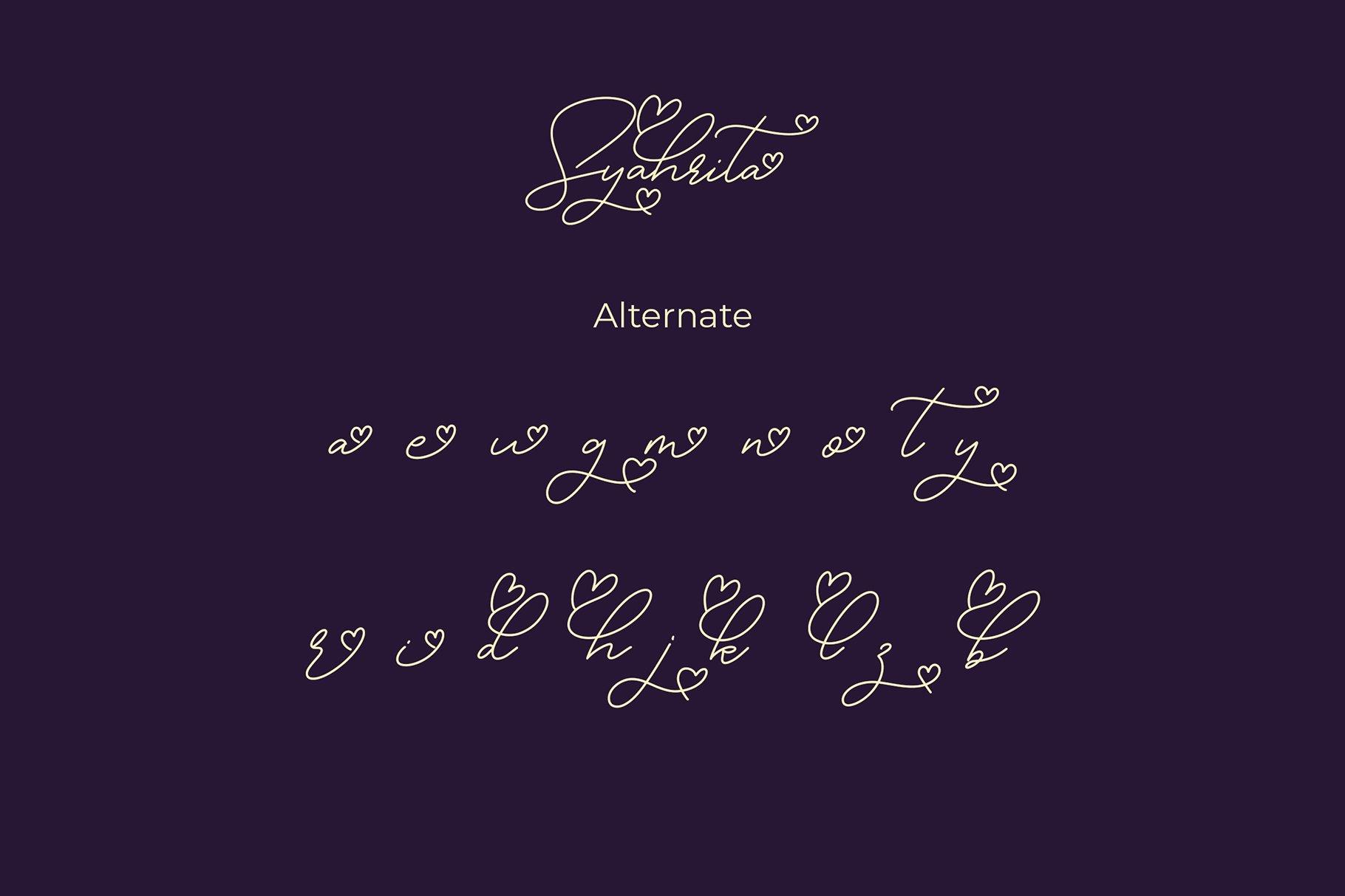 Syahrita Beautiful Romantic Font example image 6