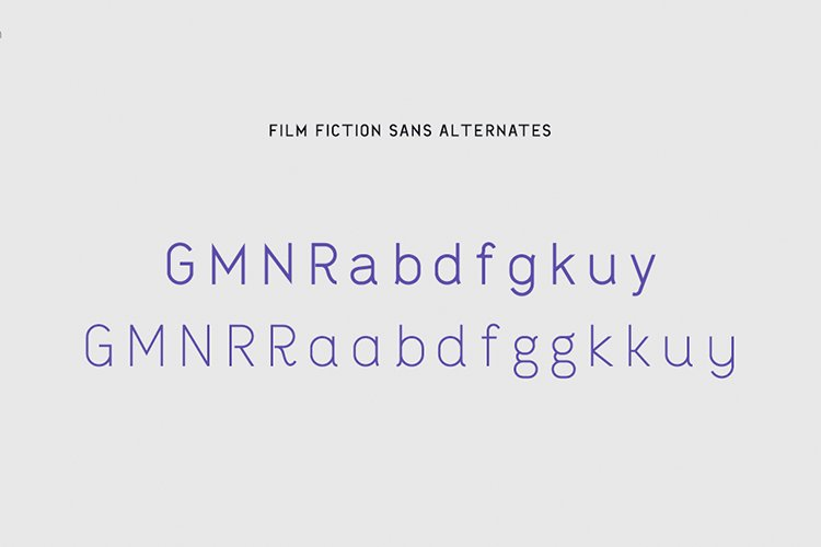 Film Fictions Sans Typeface example image 5