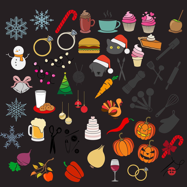 SVG cut file bundle | hand-drawn SVG clip art seasonal example image 2
