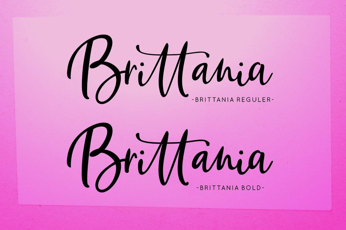 Brittania Script example image 4