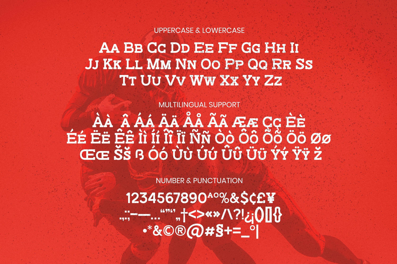 Brick Slab Font example image 4
